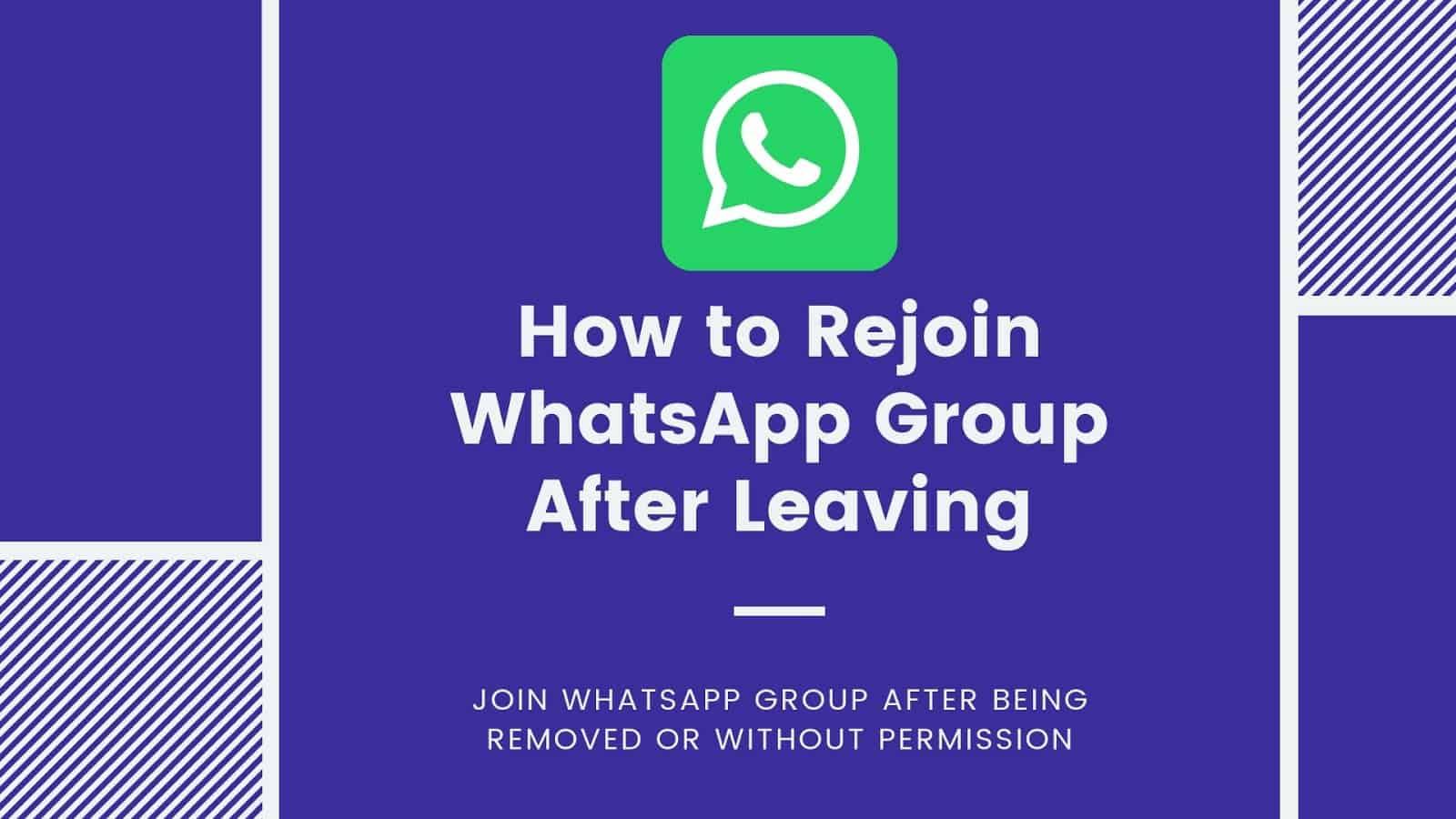 Rejoin WhatsApp Group