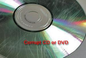 reason 2-damaged cd or dvd