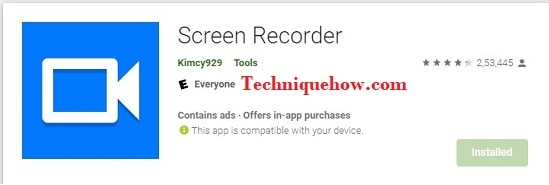 AppName: screen recorder