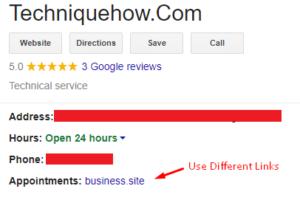 different site address