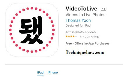 videotolive app iphone