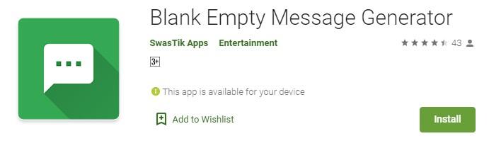 Blank Empty Message Generator
