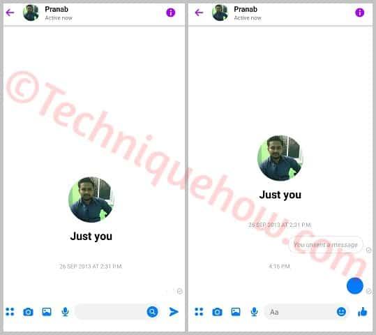 facebook messenger blank message