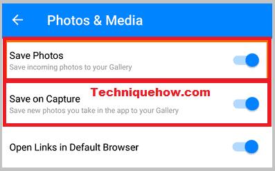 download Photos & Media on messenger