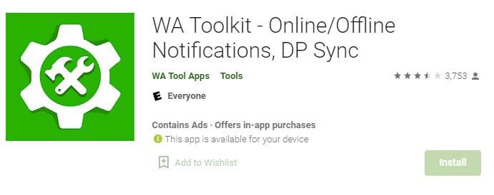 WA Toolkit app