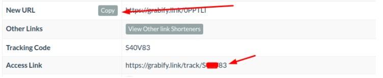 access code & short link