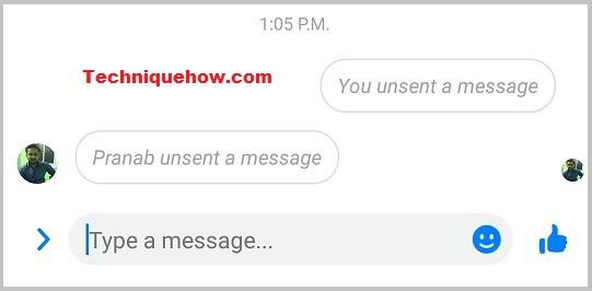 Pranab unsent a message