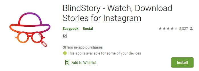 Blindstory app