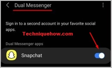 Dual Messenger Snapchat