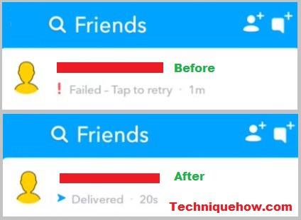 fix failed to send snapchat