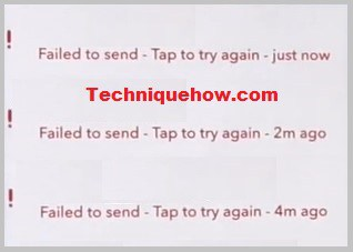 Snapchat sending Error