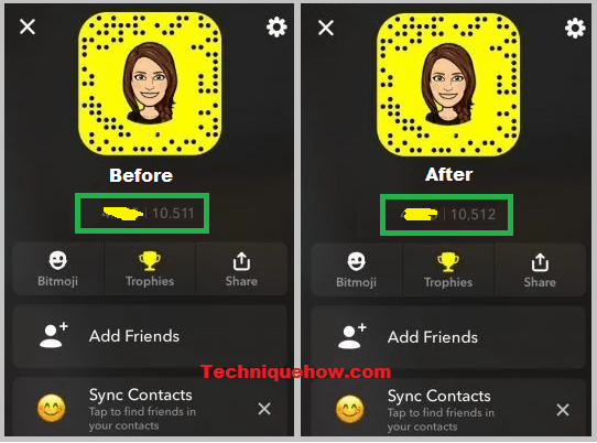 Snapchat score increase mean only you
