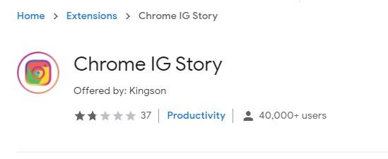 chrome IG story extension
