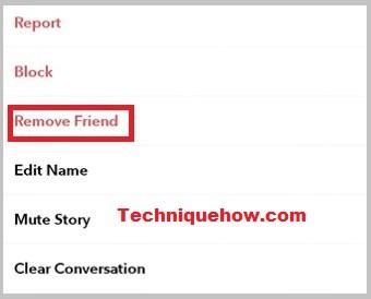 remove friends Snapchat