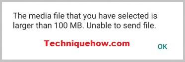 whatsapp error after 100MB