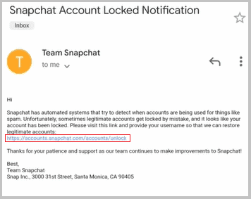 snapchat email link