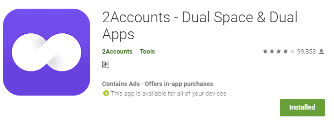 2Accounts app