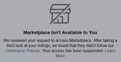 mean marketplace isn't available to you meaning