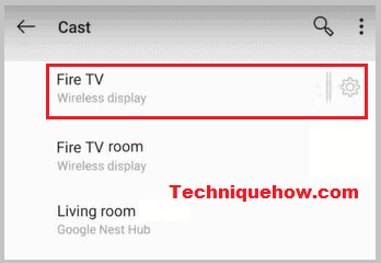 casting mobile screen to Firestick
