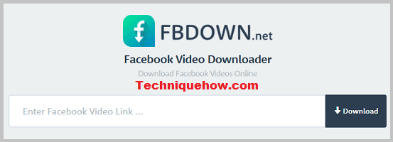 fbdown: Facebook story downloader