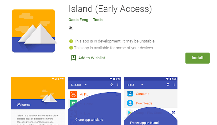 Island Clone app