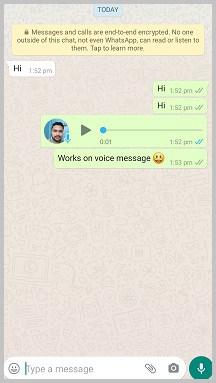 send voice message
