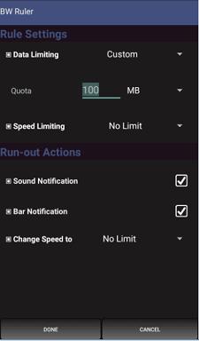 bandwidth ruler setup