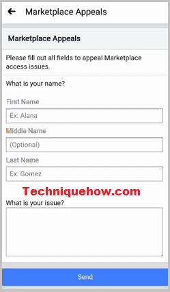 marketplace request review form