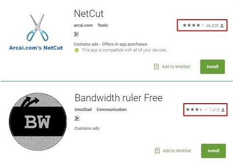 netcut & bwruler FREE ratings