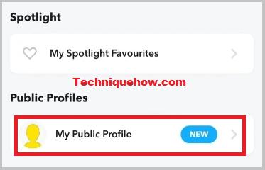public profile create