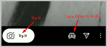 try live or save filter