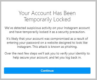 temporarily locked facebook app
