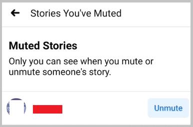unmute on facebook story