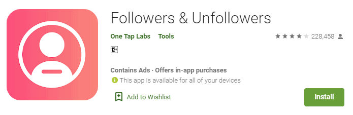 Followers & Unfollowers app