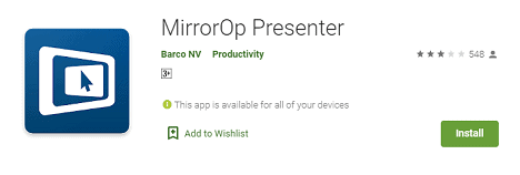 MirrorOP app android