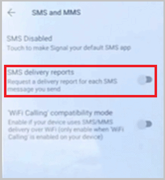 SMS Delivery Reports
