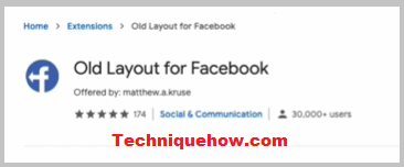 old layout for facebook