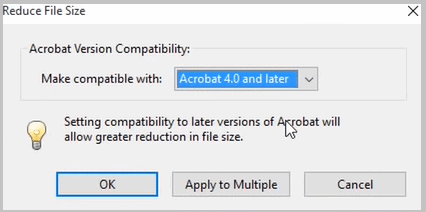 reduce file size ver 4 pdf