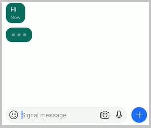 signal app online typing