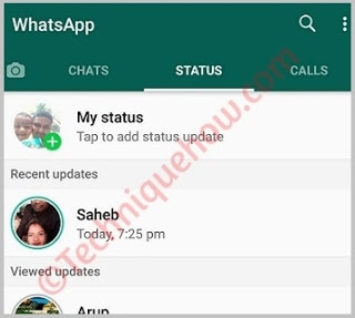 unblock whatsapp status