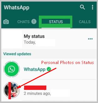 see at whatsapp status