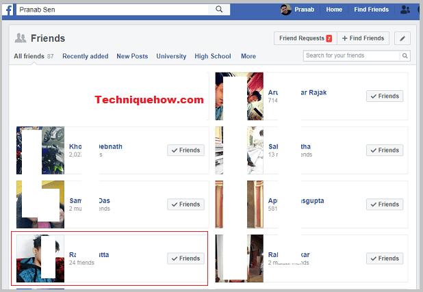 FB friend list priority