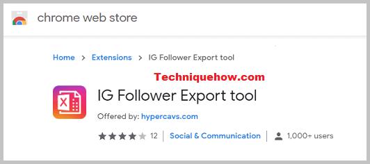 IG follower Export Chrome