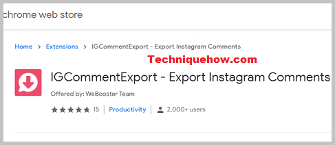 IGCommentExport extension