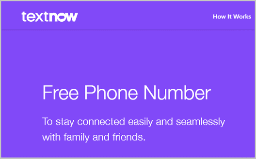 Textnow tool for numbers lookup