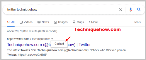 Twitter from Google cache