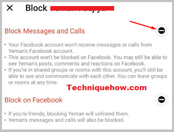 block only messages