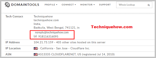 finding contact info from whois