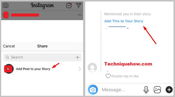 instagram add post to story
