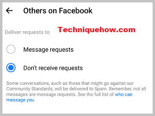 message requests facebook off